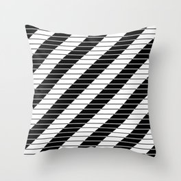 Simply Black And White (Abstract, geometric design) Throw Pillow