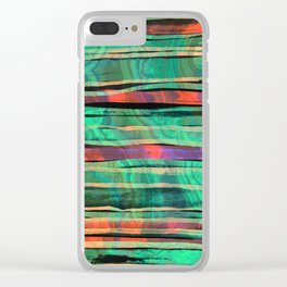 green&orange Clear iPhone Case