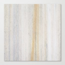 Rustic gray gold yellow vintage white marble Canvas Print