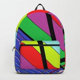 Diagonal Color Backpack