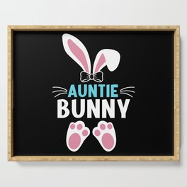 Auntie Bunny Easter Bunny Egg Hunting Rabbit Serving Tray