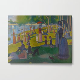 A Sunday Afternoon on the Island of La Grande Jatte Painting by Georges Seurat Pointillism Metal Print