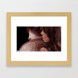 """""""Our scars remind us that the past is real."""" Framed Art Print"""