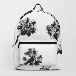 {2 of 2} Palm Trees = Happy // Black and White Summer Sky Backpack