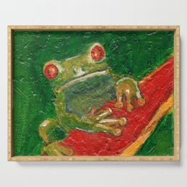 Red Eyed Frog Serving Tray