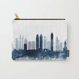 Philadelphia City Skyline Blue Watercolor by zouzounioart Carry-All Pouch