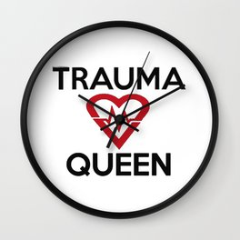 Trauma Queen Love Wall Clock
