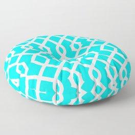 Grille No. 3 -- Cyan Floor Pillow