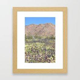 Superbloom in Joshua Tree Framed Art Print