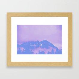 Alaska Mountain Abstract - PWP Framed Art Print