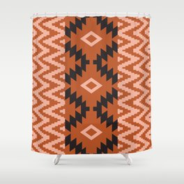 Ion in Rust Shower Curtain