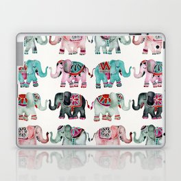Elephant Collection – Turquoise & Coral Palette Laptop & iPad Skin