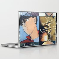 akira Laptop & iPad Skins featuring Akira: Pulped Fiction edition by InvaderDig