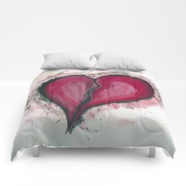 Cracked & Splattered Heart Comforters