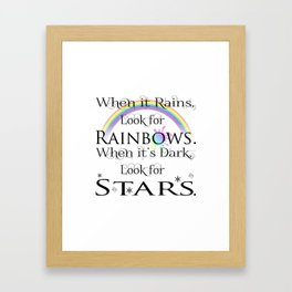 When it Rains... Framed Art Print
