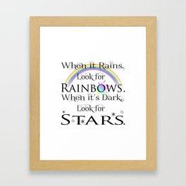 When it Rains... Framed Art Print