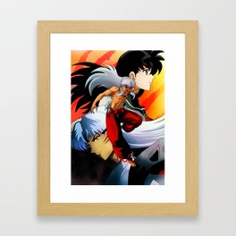 Demon Inuyasha Artwork Framed Art Print