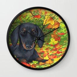 Dog 142 Dachshund Wall Clock