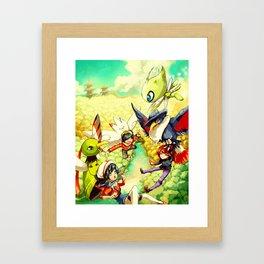Johto heroes Framed Art Print