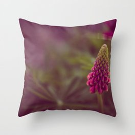 Pink Flow Throw Pillow