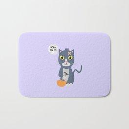 Construction Worker Cat Bath Mat
