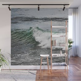 Green Wave Wall Mural