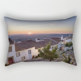 Marvao cottages at dawn, Portugal Rectangular Pillow
