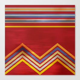 Stripes and Chevrons Ethic Pattern Canvas Print