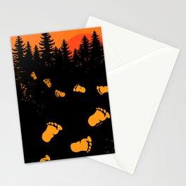 Bigfoot Tracks At Sunset Stationery Cards