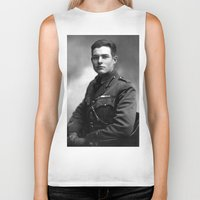 hemingway Biker Tanks featuring Ernest Hemingway in Uniform, 1918 by Limitless Design