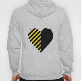 Yellow Love Heart Hoody