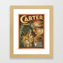Vintage poster - Carter the Great Framed Art Print