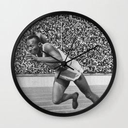 Jesse Owens Running Wall Clock