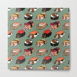Sushi  Basset Hound Metal Print