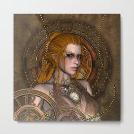 Steampunk, amazing steampunk women Metal Print