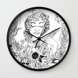 Lake Lady Portrait Wall Clock