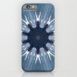 Blue kaleidoscope iPhone Case