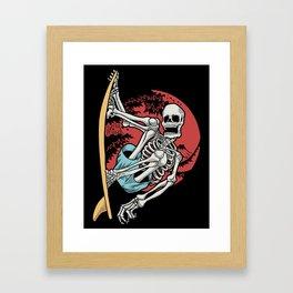 skull surf Framed Art Print