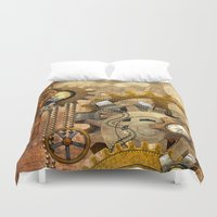 steampunk Duvet Covers featuring steampunk by Ancello