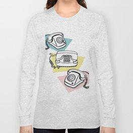 Retro phones Long Sleeve T-shirt