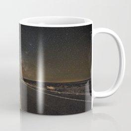 Go Beyond - Road Leads Into Milky Way Galaxy Coffee Mug