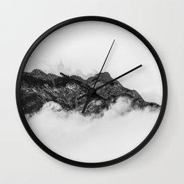 Island on clouds Wall Clock