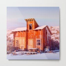Rural Montana Country Rustic Old Wood ranch Metal Print