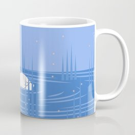 The Snow-White Duck - Blue Coffee Mug