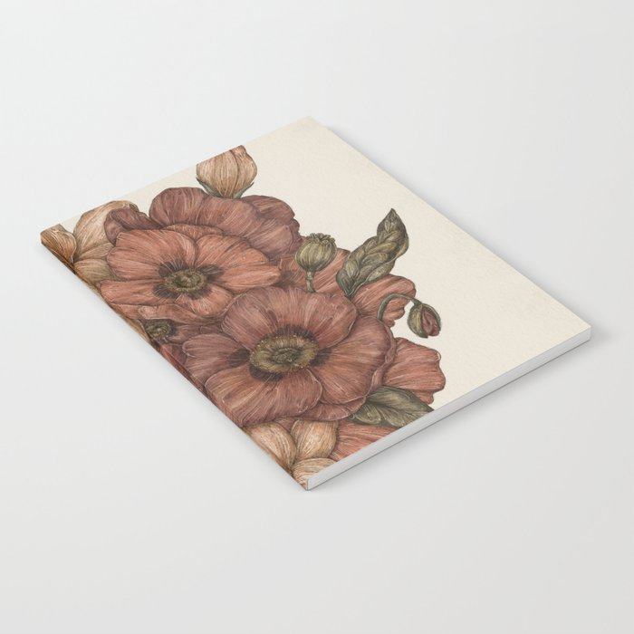 Poppies and Lilies Notebook