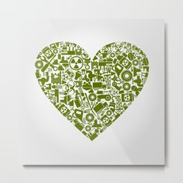 Heart the industry Metal Print