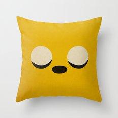 Minimalist Adventure Time Jake Throw Pillow