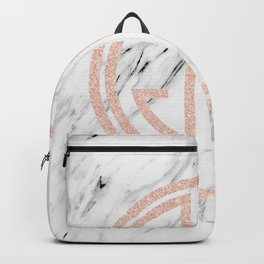 great Gatsby rose gold black and white marble Backpack