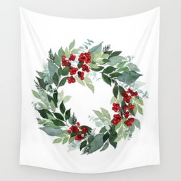 Holly Berry Wall Tapestry