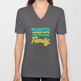 Diabetes Awareness Apparel Diabetic Family Gift Unisex V-Neck